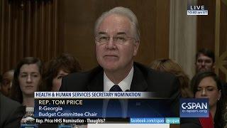 HHS Secretary Nominee Rep. Tom Price Opening Statement (C-SPAN)