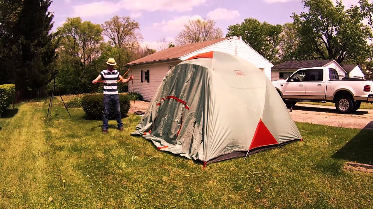 & REI Base Camp 6 tent setup - YouTube