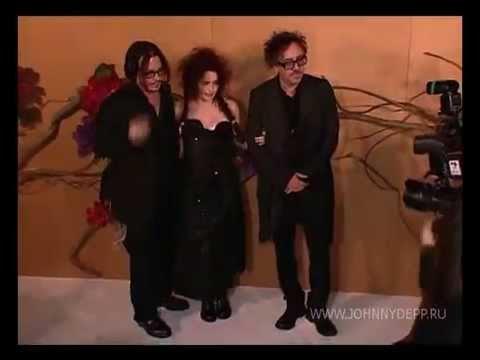 Johnny Depp, Helena Bonham Carter and Tim Burton. MoMA Tribute to Tim Burton 2009 in New York