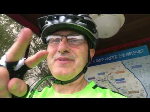 20170708 Seoul Korea - Ara bike path PP stamp quest on the Fuji Touring bike!
