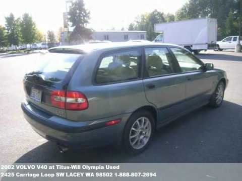 2002 volvo v40 9990 at titus will olympia used in lacey. Black Bedroom Furniture Sets. Home Design Ideas