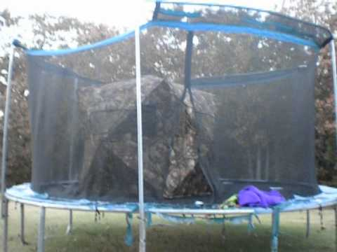Tr&oline Tent! & Trampoline Tent! - YouTube