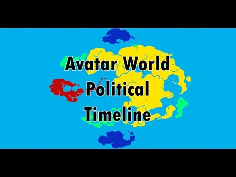 Political Map of The world of avatar throughout the years (Kyoshi-Korra) HD