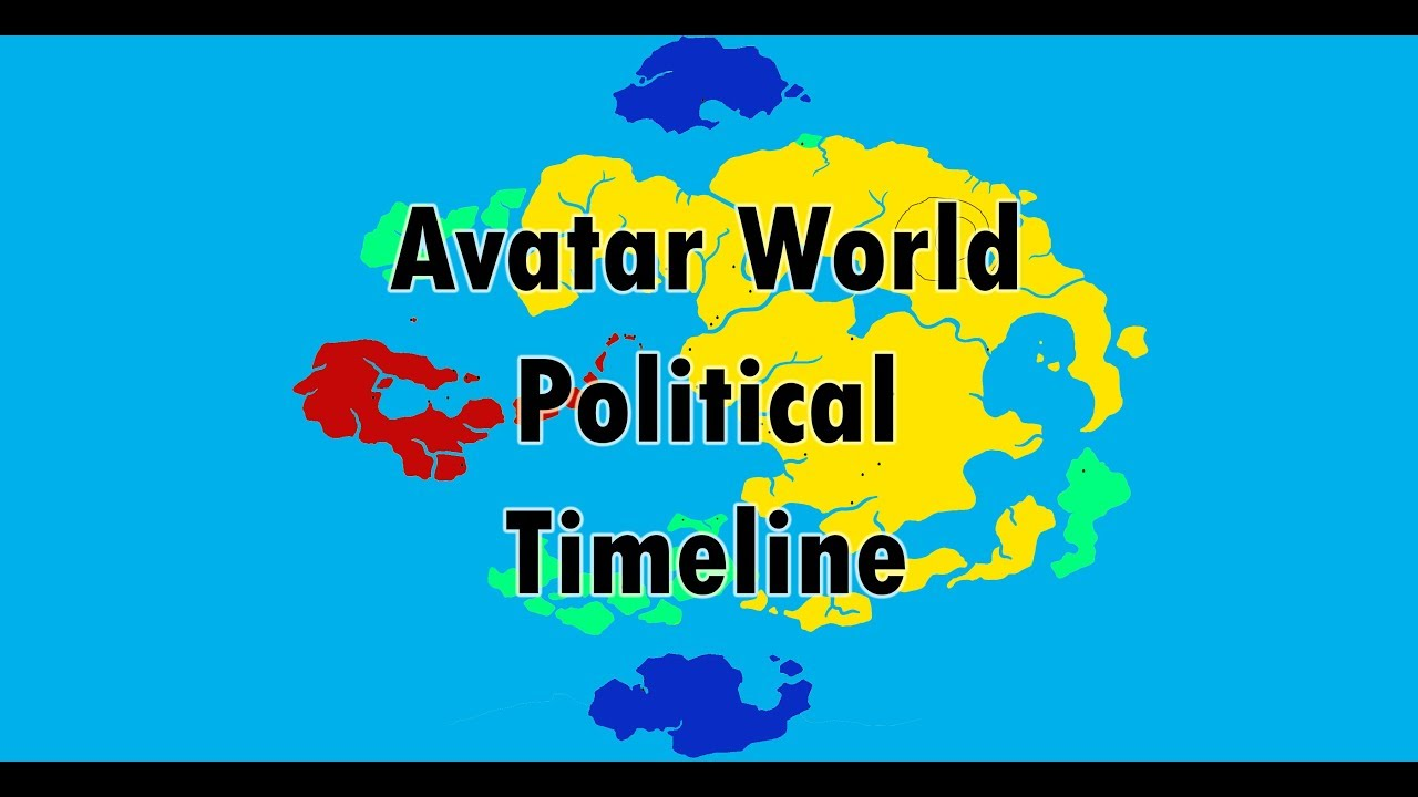 Political Map of The world of avatar throughout the years (Kyoshi ...