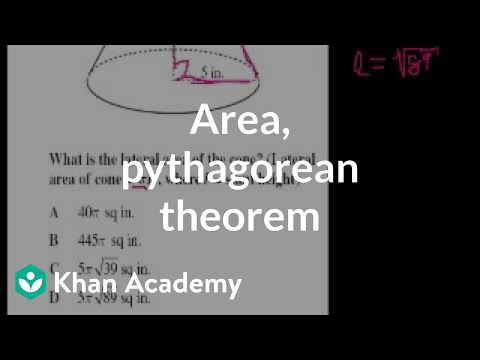 CA Geometry: Area, pythagorean theorem | Worked examples | G