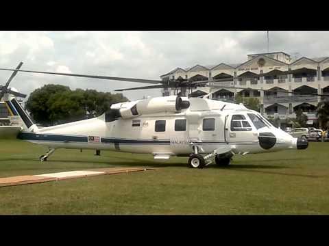 "Sikorsky S-70 ""White Hawk"" TUDM/RMAF  takeoff  -2-"
