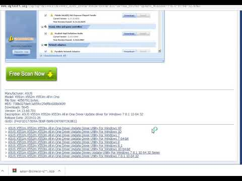 ASUS X551m X552m X553m All In One Driver Update Driver Utility For Windows 7 8.1 10 64 32