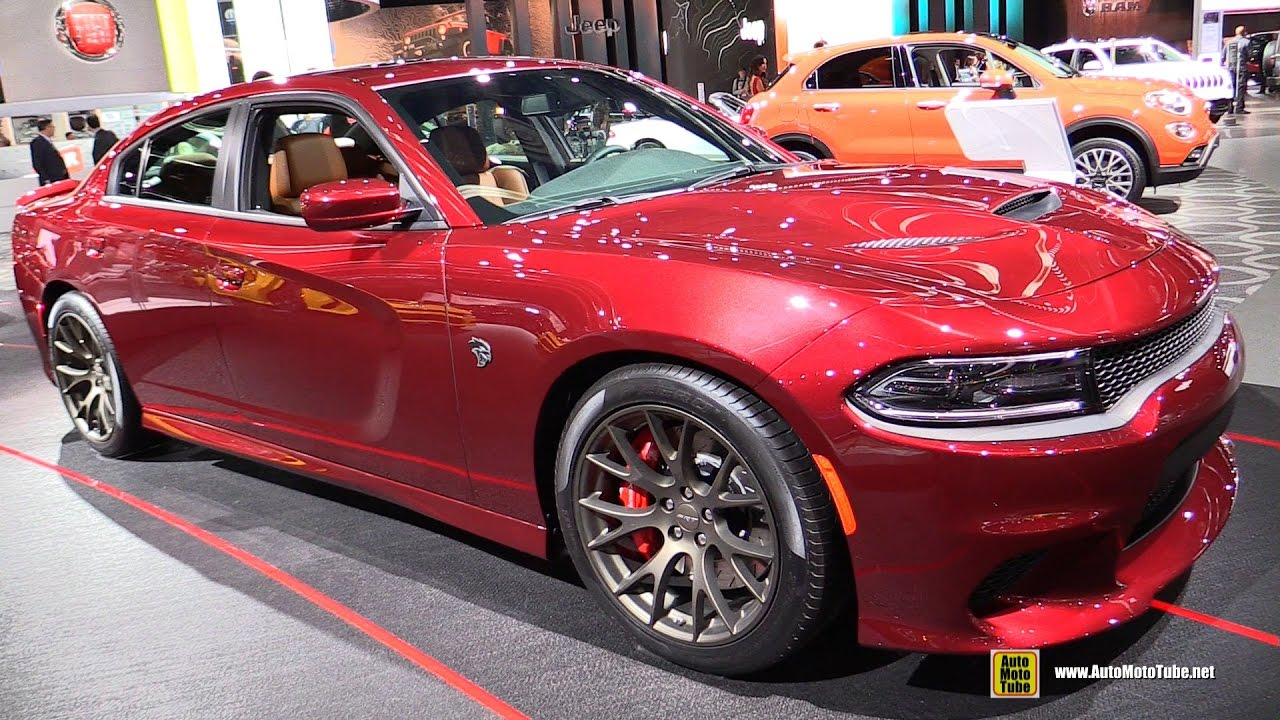 Srt Hellcat Charger >> 2017 Dodge Charger SRT Hellcat - Exterior and Interior Walkaround - 2017 Detroit Auto Show - YouTube