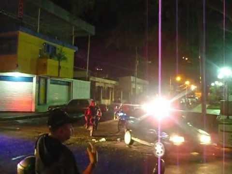 Policia dispara en el aire, Guanare, Venezuela.