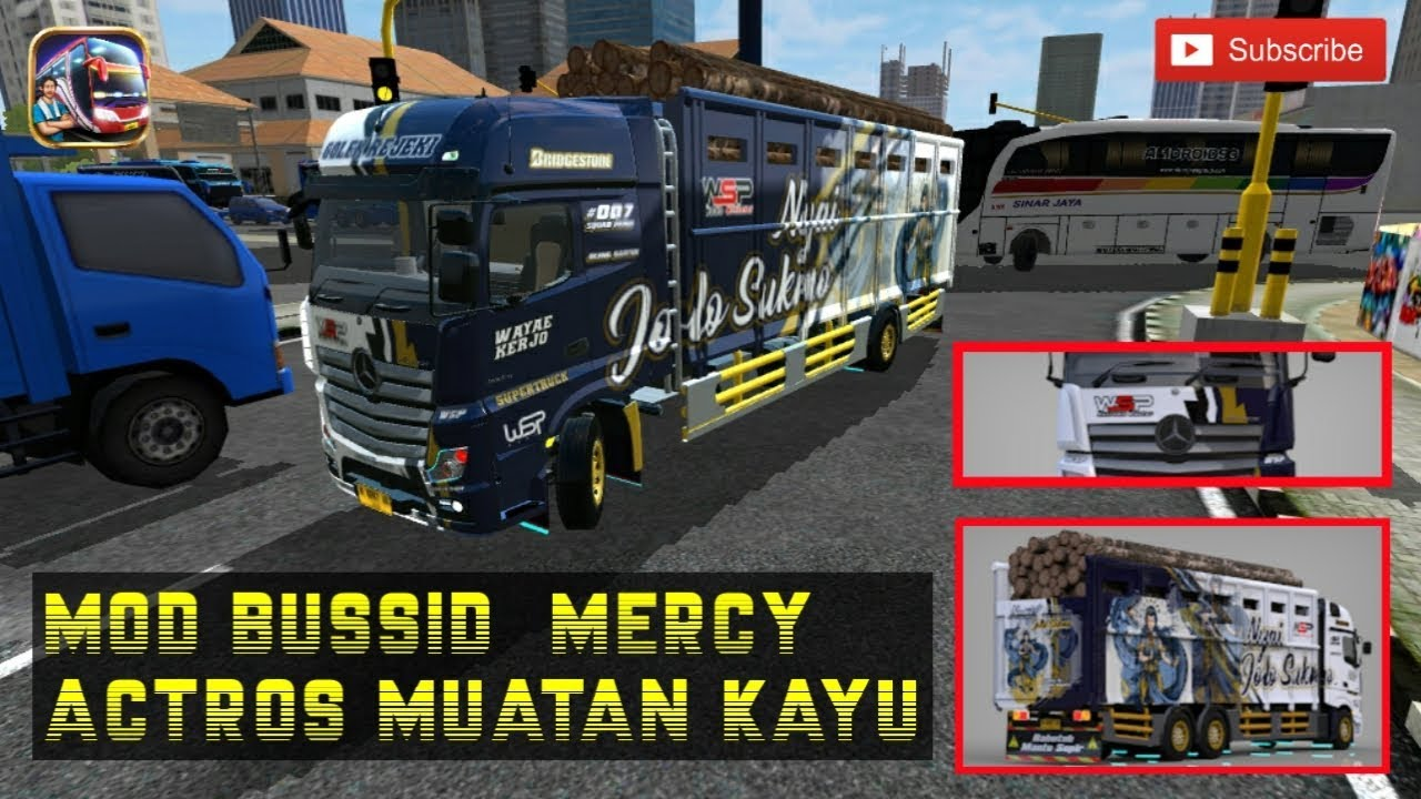 Share Mod Bussid Paling Detail Mod Truck Mercedes Actros 3