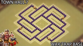 Clash of Clans - Town Hall 7 (TH7) War Base (Trap Base) with Air Sweeper