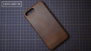 [Leather Handmade EP33] Making a Leather Case for iPhone - DIY