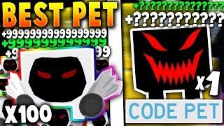 *SECRET* CODE PET VS 100 OF THE RAREST UPDATE PETS!! (*INSANE*) - Roblox Pet Simulator