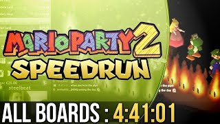 Mario Party 2 All Boards Speedrun in 4:41:01 (Easy)
