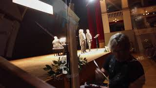 """Eric Waugh paints """"Sunset over Florence"""" LIVE in Livorno Italy"""