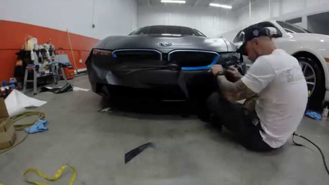 Excell Auto Group 2014 Bmw I8 Custom Vinyl Wrap Youtube