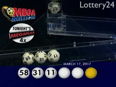 2017 03 17 Mega Millions Numbers and draw results