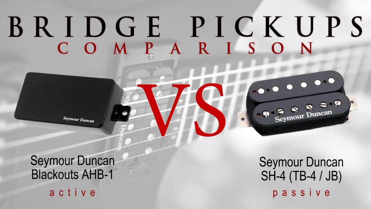SEYMOUR DUNCAN SH-4 JB vs BLACKOUTS - Active Passive Bridge Pickup Metal  Tone Comparison / Review