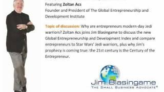 Jim Blasingame with Zoltan Acs November 5, 2010