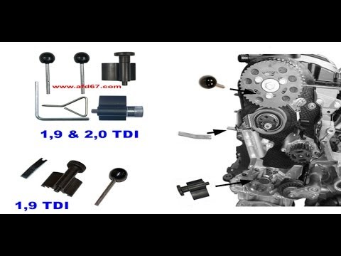 tuto kit calage courroie distribution vw audi seat skoda 1 9l d tdi musicmall. Black Bedroom Furniture Sets. Home Design Ideas