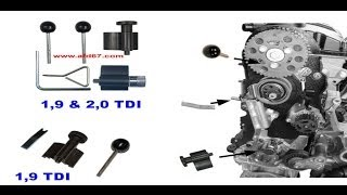 Tuto kit Calage courroie distribution VW AUDI SEAT SKODA  1.9L D TDI