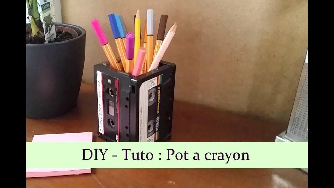 diy tuto pot crayon youtube. Black Bedroom Furniture Sets. Home Design Ideas