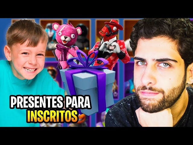 UM INSCRITO SE EMOCIONOU COM O PRESENTE SURPRESA NO FORTNITE!