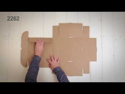 Self-assemble boxes - Assembly video ref. 2262 SelfPackaging