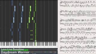ピアノ daydream warrior aqours synthesia piano tutorial ラブライブ サンシャイン