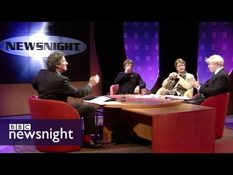 The UK's place in Europe? Paxman, Boris and Eddie Izzard (1997) - Newsnight archives