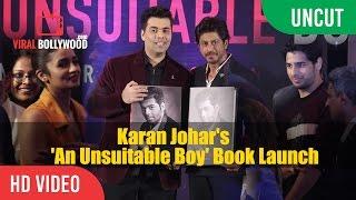 Uncut An Unsuitable Boy Book Launch  Karan Johar, Shahrukh Khan, Alia Bhatt, Siddharth Malhotra