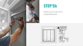 Door Installation of Longevity Acrylics Pre-Assembled Tri-Panel Shower Door
