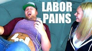 MAN EXPERIENCES LABOR PAINS!