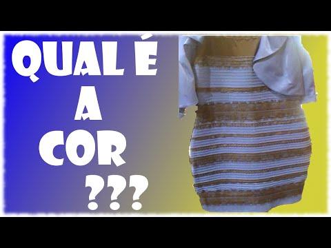 Vestido Azul E Preto Ou Branco E Dourado Explicação