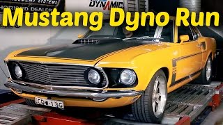 1969 Mustang with Coyote motor Dyno Run