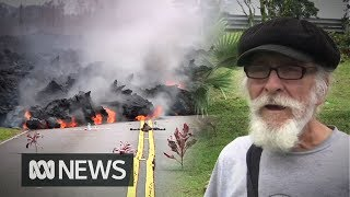 Lava danger not enough to make Hawaii man leave home