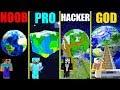 MINECRAFT BATTLE: NOOB vs PRO vs HACKER vs GOD: SECRET PLANET BASE CHALLENGE in MINECRAFT Animation