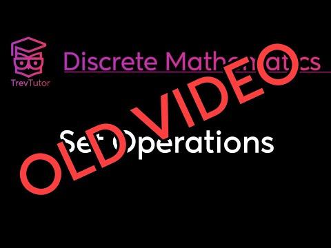 [Discrete Math 1] Set Operations