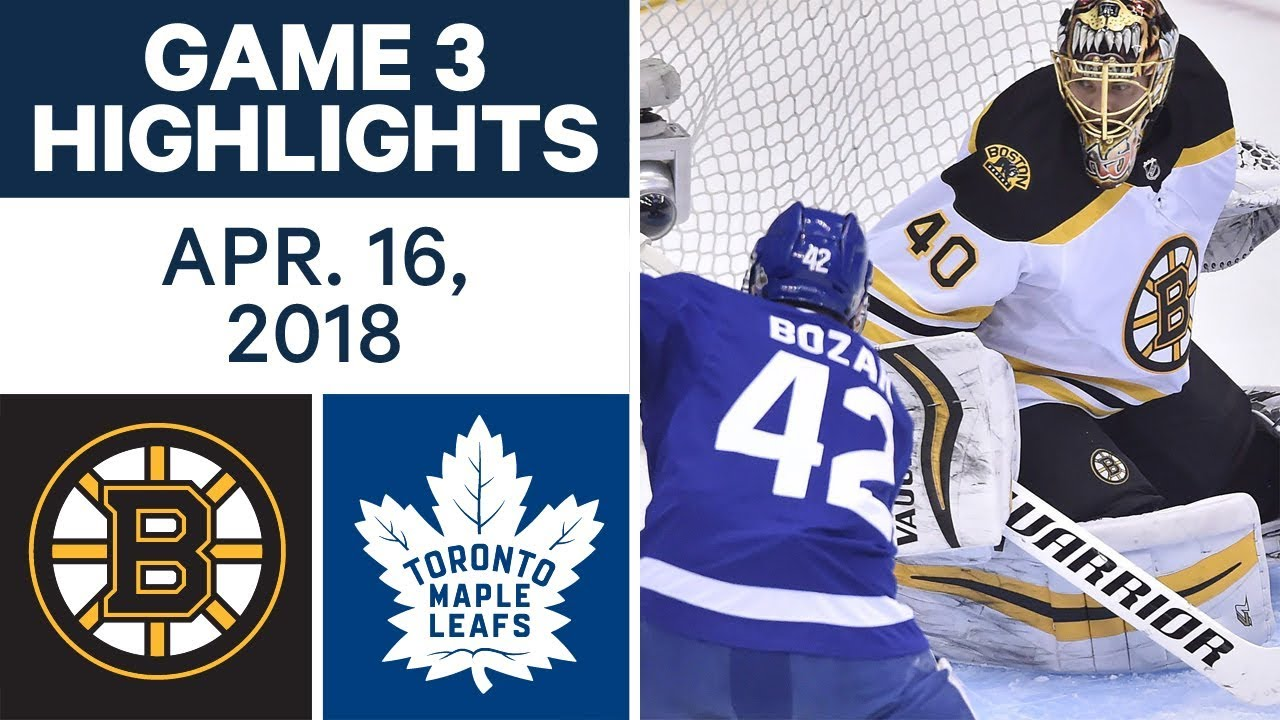 NHL Highlights | Bruins vs. Maple Leafs, Game 3 - Apr. 16, 2018