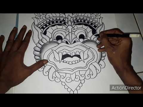 MENGGAMBAR BARONG BALI PART1 | ART ST