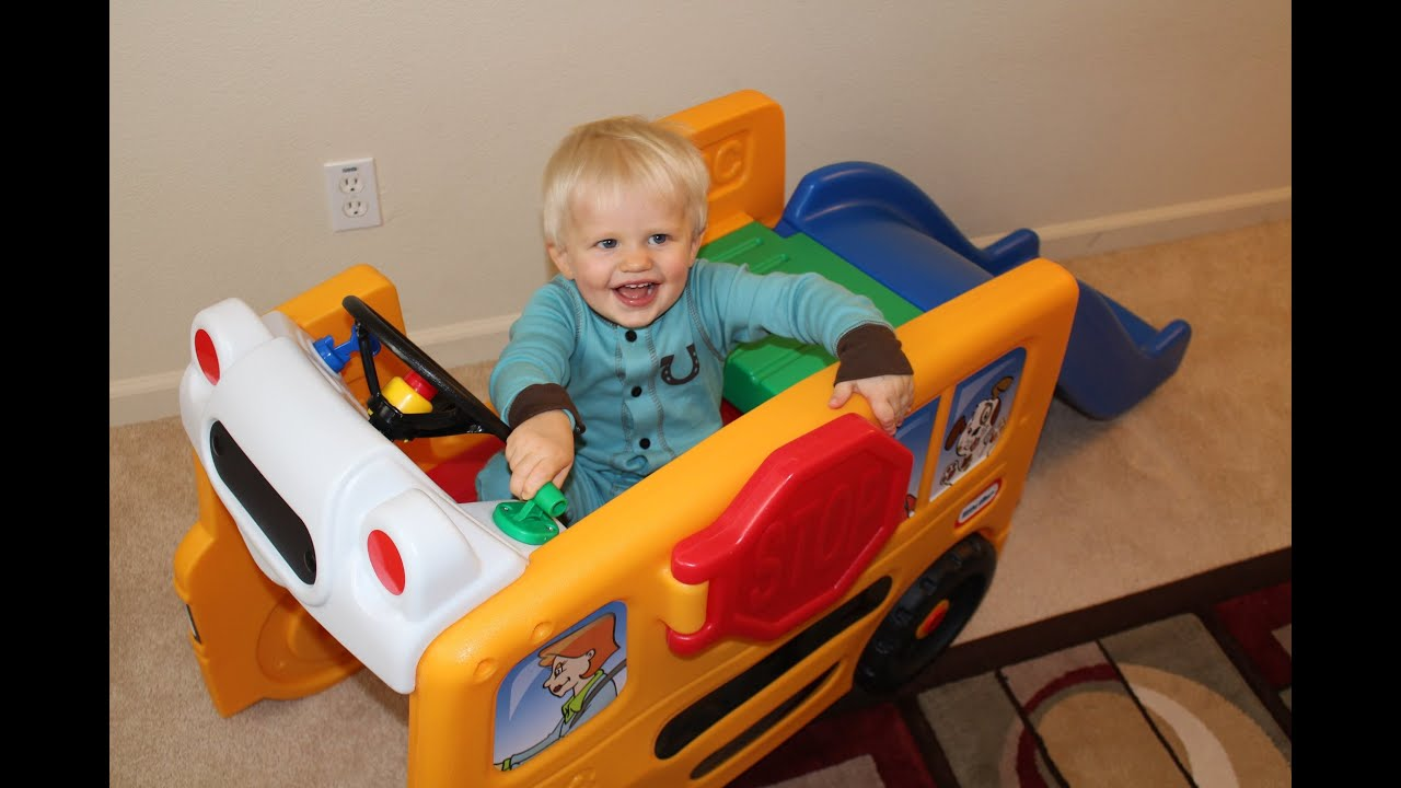 Little Tikes School Bus Activity Gym Review & Playtime