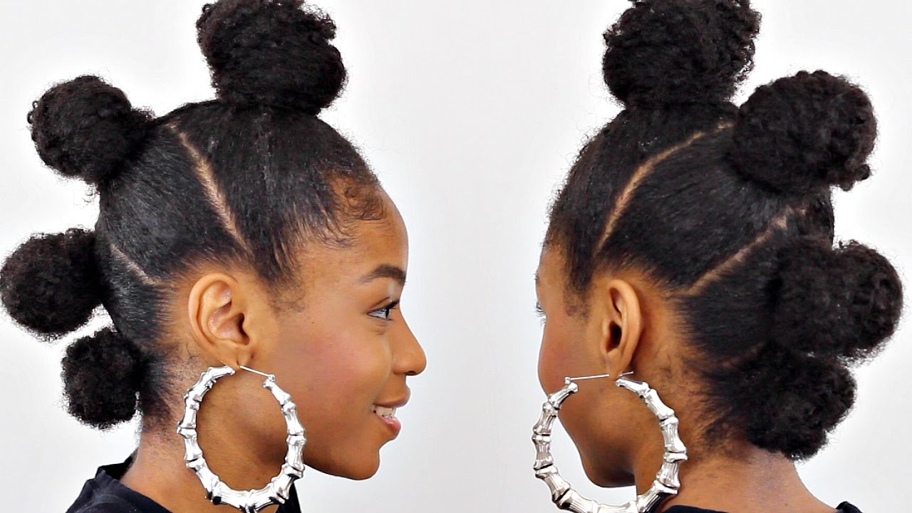 BUN MOHAWK ON NATURAL HAIR▻ QUICK Natural Hairstyles - YouTube