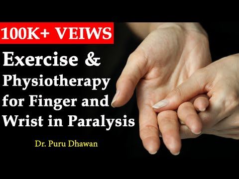 Exercise & Physiotherapy for Finger and Wrist in Paralysis