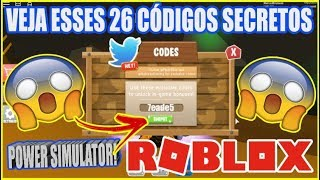 ALL 26 CODES JA TO PRO IN POWER SIMULATOR! Roblox