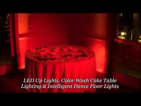 Wedding Centerpiece Lighting, Cake Light, San Diego Lighting Rentals, Color Wash Lights DJ Rental