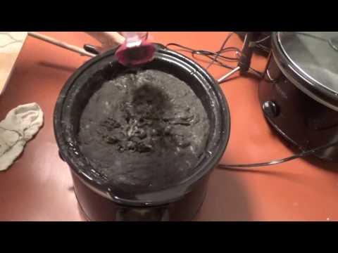 Rebatching Crockpot HP Soap Into Activated Charcoal Soap