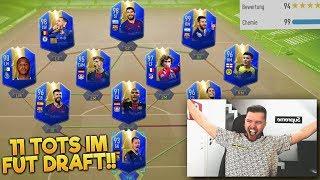 11 TOTS IM FUT DRAFT 😱😱 FIFA 19 FUTDRAFT CHALLENGE