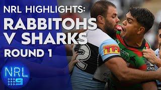 NRL Highlights: South Sydney Rabbitohs v Cronulla Sharks - Round 1 | NRL on Nine