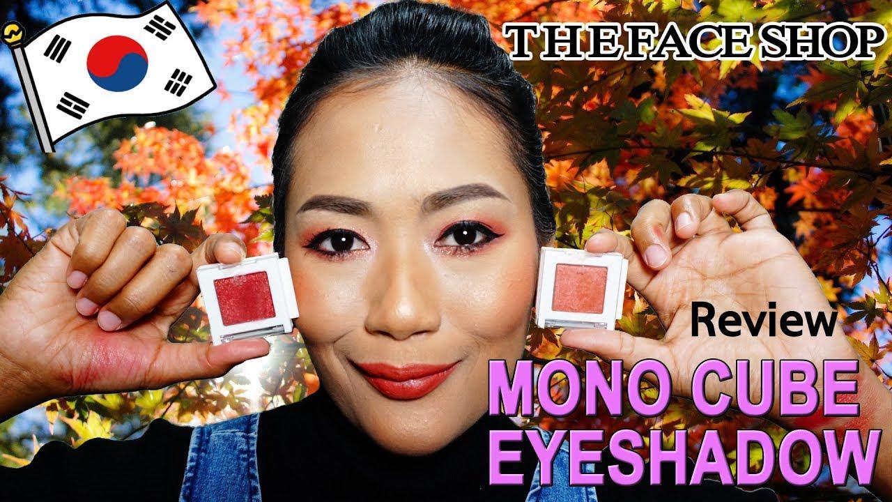 รีวิว TheFaceShop MoNo Cube Eyeshadow | อายแชโดว์สีแดง ต้อนรับใบไม้ร่วง