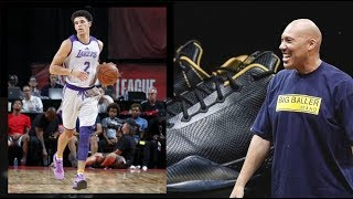 Lonzo Ball Wears Nike Kobe's Instead Of Big Baller Brand ZO2 Shoes At Lakers Game + Lavar's Thoughts